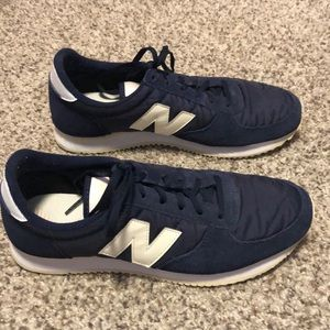 Navy blue New Balance shoes